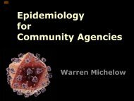 Epidemiology 101 - Pacific AIDS Network