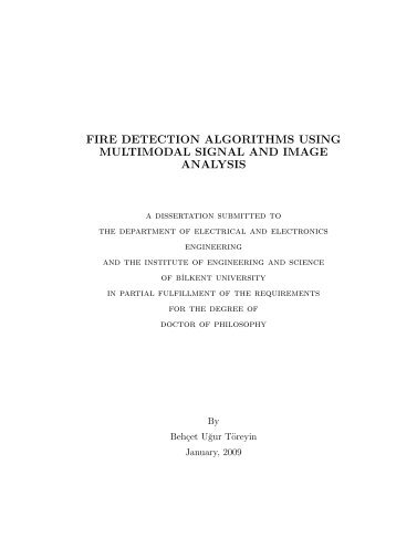 Fire Detection Algorithms Using Multimodal ... - Bilkent University