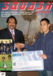 LM Wien - beim Österreichischen Squash Racket Verband