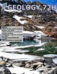 Geology 72H, volume 1 - Geological Sciences - The University of ...
