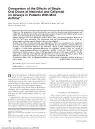 Comparison of the Effects of Single Oral Doses of Nebivolol ... - Chest