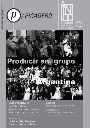 Revista Picadero Nº 13 - Instituto Nacional del Teatro