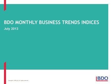 BDO Business Trends - July 2013 - Uk.com