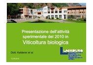 """""""resistenti"""" ai patogeni fungini principali della vite, sul ... - Tec.bio"""