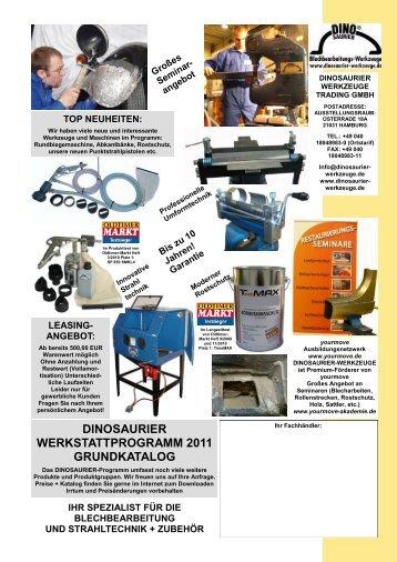 DINOSAURIER WERKSTATTPROGRAMM 2011 GRUNDKATALOG