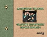 Graduate Employment Report 2003 – 2004 - Algonquin College