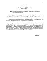 Tender notification - Bose Institute