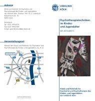Psychotherapietechniken im Kindes- und Jugendalter - Zentrum für ...