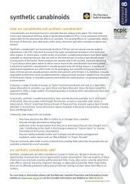 Synthetic Cannabinoids - National Cannabis Prevention and ...
