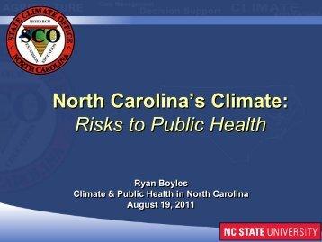 Ryan Boyles, State Climatologist (NC State University)
