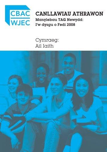 TAG Cymraeg Ail Iaith - Canllawiau i Athrawon - WJEC