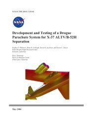 Development and Testing of a Drogue Parachute System for ... - NASA
