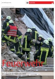 Jahresbericht 2009 der Feuerwehr Köln - Stadt Köln
