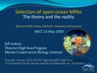 Selection of open‐ocean MPAsThe theory and the reality - Marine ...