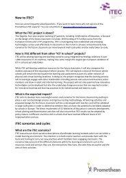 New to iTEC? iTEC scenarios and cycles - Promethean Planet