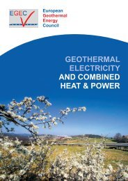 geothermal electricity and combined heat & power - European ...