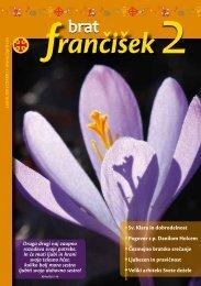Urednikova beseda bf 2/2011 - Frančiškani v Sloveniji