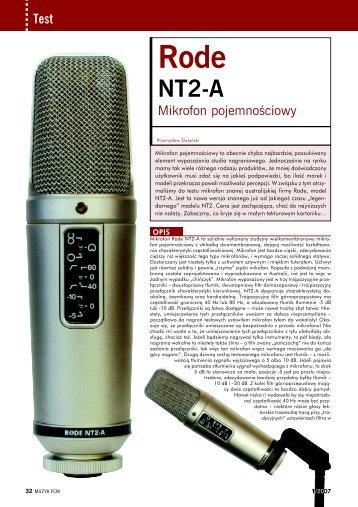 Rode NT2-A - Audiostacja