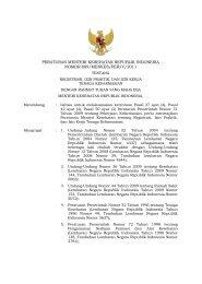 peraturan menteri kesehatan republik indonesia nomor 889/menkes