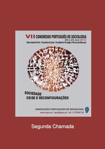 2ª Chamada - Associação Portuguesa de Sociologia