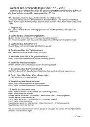 Protokoll des Kreisparteitages vom 15.12.2012 - DIE LINKE ...