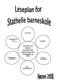 Leseplan for Stathelle barneskole - Bamble kommune