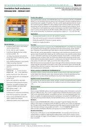 Insulation fault evaluators EDS460/490 – EDS461/491 - Bender