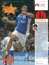 Liebe Sportsfreunde - StadtSportBund Köln