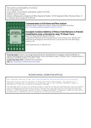 Communications in Soil Science and Plant Analysis Incomplete ...