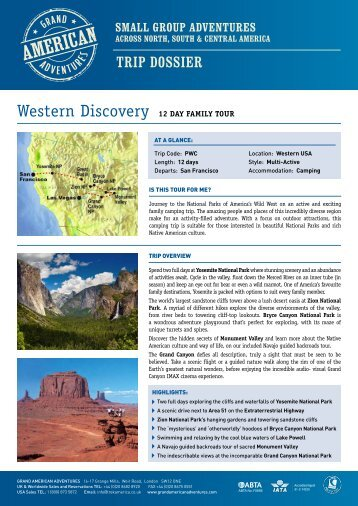 Western Discovery 12 Day FaMILy Tour - Adventure Holidays ...