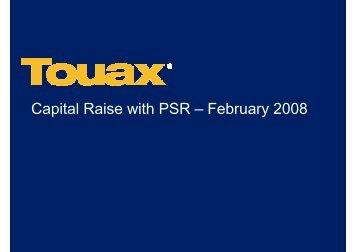 Presentation Capital Raise 2008 - touax group