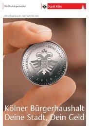 Broschüre Kölner Bürgerhaushalt 2010 - Stadt Köln