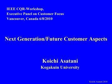 Asatani - Panel - IEEE CQR