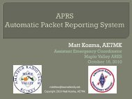 APRS - Automatic Packet Reporting System - Mike And Key Amateur ...