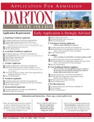 Darton College Application For Admission