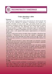 Sergio Gaiffi, Corpo, educazione e salute