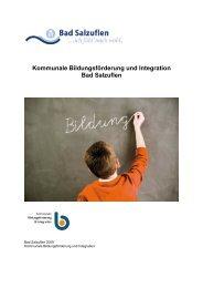 Kommunale Bildungsförderung und Integration Bad Salzuflen
