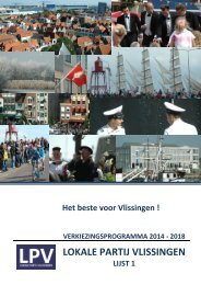 Verkiezingsprogramma LPV 2014 - 2018
