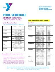 POOL SCHEDULE - Armbrust YMCA