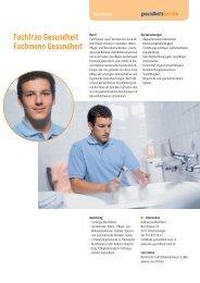 Fachfrau Gesundheit Fachmann Gesundheit - Gesundheitsberufe ...