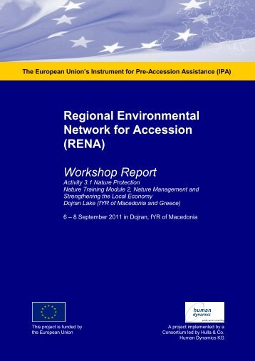 Workshop Report - Dojran lake FINAL, 6-8 ... - Renanetwork.org