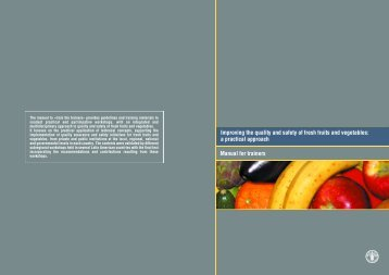 Training manual on safety and quality of fresh fruits and ... - FAO.org