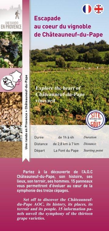 Escapade au coeur du vignoble de Châteauneuf-du-Pape - CCPRO