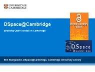 Presentation - Cambridge University Library - University of Cambridge