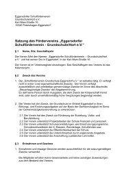"Satzung des Fördervereins ""Eggersdorfer Schulförderverein ..."