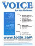 tcdla - Voice For The Defense Online - Page 3