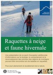 Dossier Raquettes à neige et faune hivernale - Mountain Wilderness