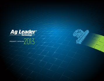 Download Product Catalog - Ag Leader Technology