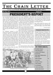 Issue 217: March / April 2011 - Cycle Touring Association of Western ...