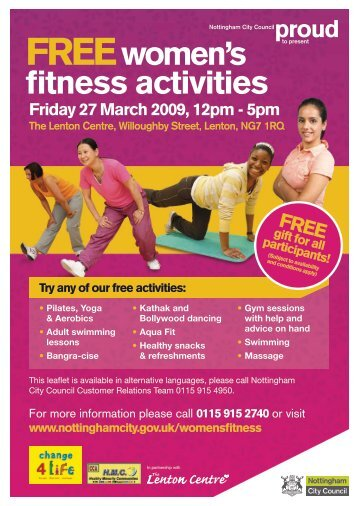 FREE Women's Fitness Day Leaflet - email version.pdf - Nottingham ...
